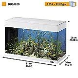 Ferplast 65034011 Aquarium DUBAI 80, Maße: 81 x 36 x 51 cm, 125 Liter, weiss - 3