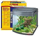sera Biotop Nano LED Cube 60 ein 60l Süßwasser Aquarium Komplettset - Plug & Play - mit LED Beleuchtung, Regelheizer und großem 4-Kammer Innenfilter, gebogenes Glas, Maße (BxHxT) 40 x 47 x 46 cm