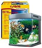 sera Biotop LED Cube 130 XXL ein 130l Süßwasser Aquarium Komplettset - Plug & Play - mit LED Beleuchtung, Regelheizer & großem 4-Kammer Innenfilter, gebogenes Glas, Maße (BxHxT) 51 x 62,6 x 58cm
